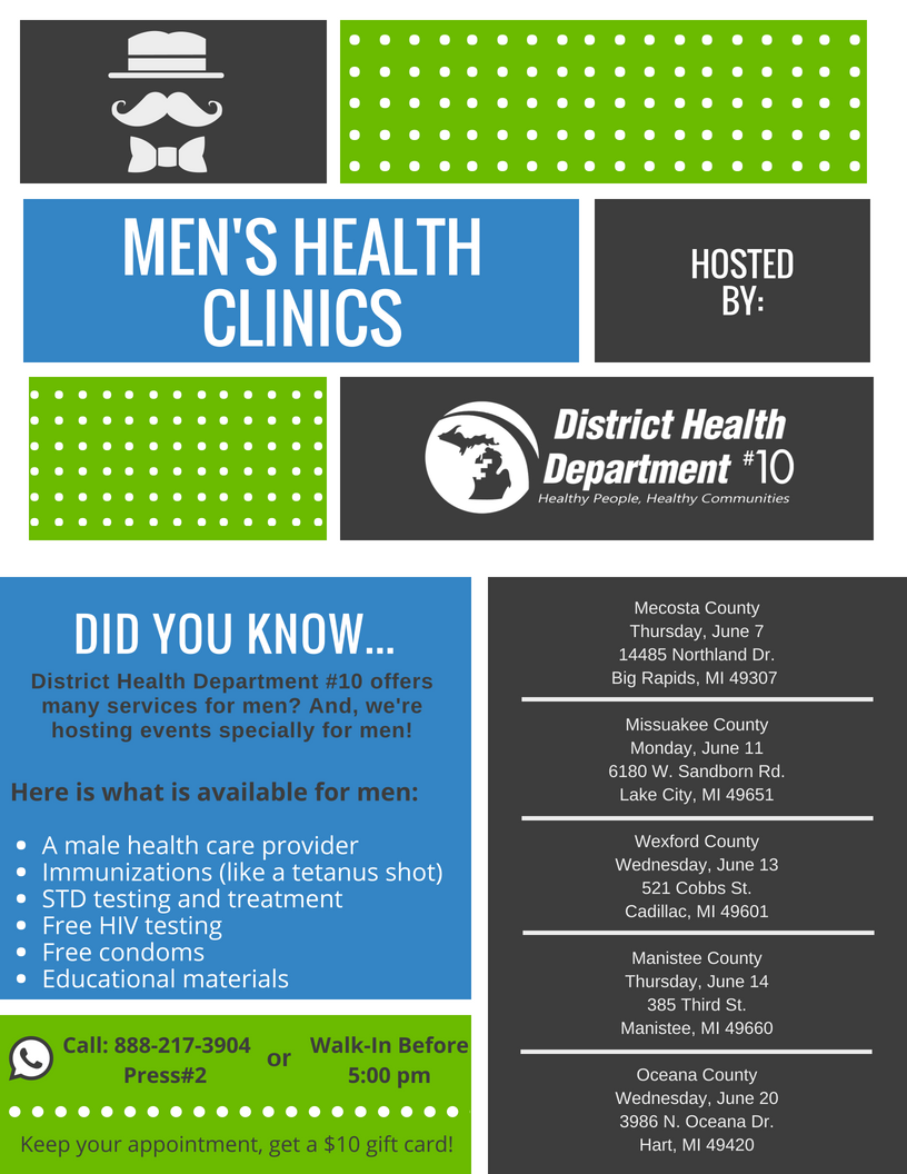 Men's Health Clinics - District Health Department 10