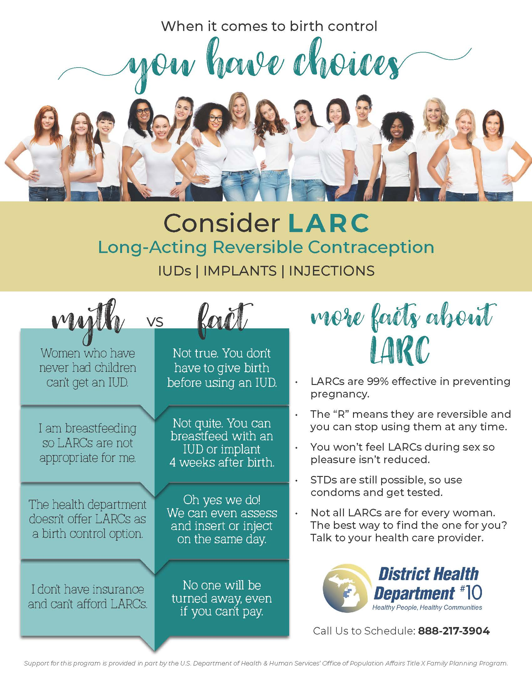 Long-Acting Reversible Contraceptive (LARC) Flyer