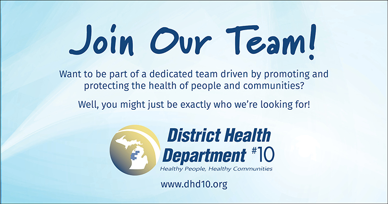 Join Our Team! Want to be part of a dedicated team driven by promoting and protecting the health of people and our communities