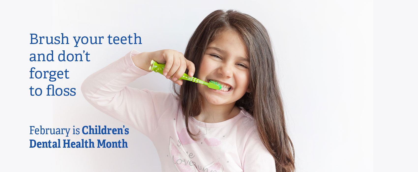Image of young girl brushing her teeth
