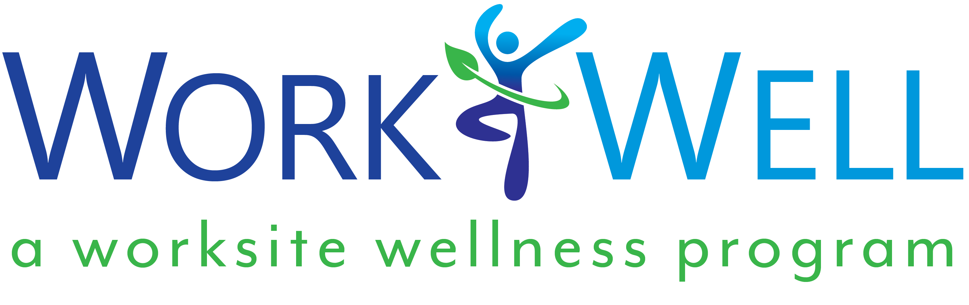 WorkWell Logo with tagline: a worksite wellness program