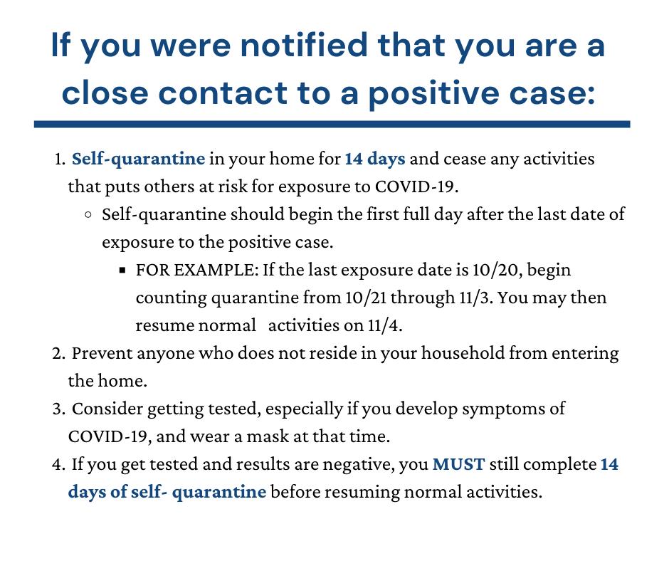 Isolation, Quarantine & Recently Tested (6)